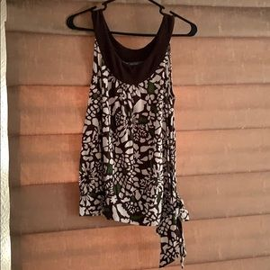Tank top with side tie accent
